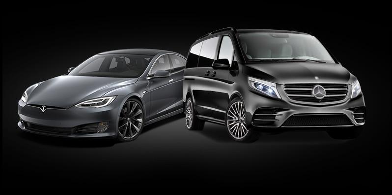 VTC Tesla et VAN Mercedes